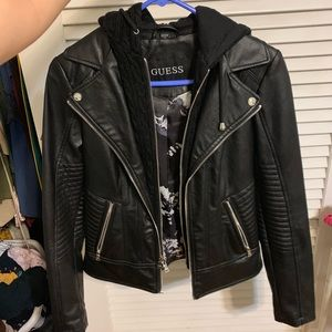 GUESS Leather Jacket Never Worn